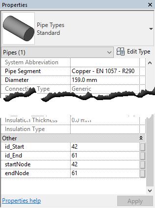 pipe parameters
