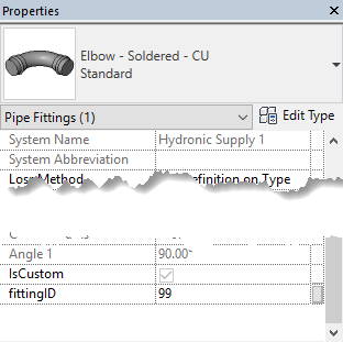 pipe fitting parameters